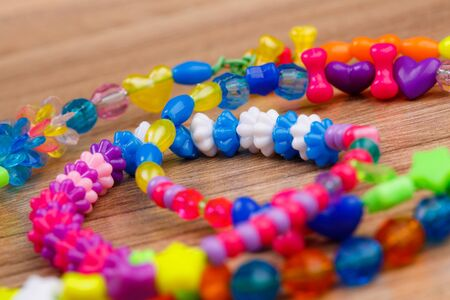 Picture colored beads sparkled photographed. macro photo