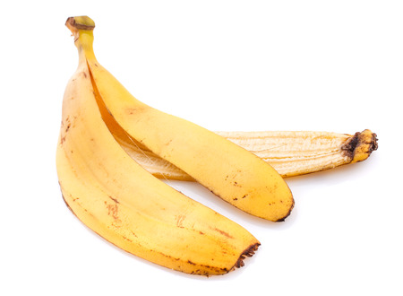Banana peel isolated on white background, With clipping path Stock Photo