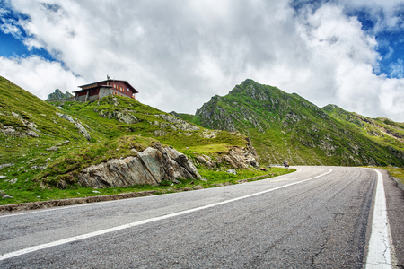 Transfagarasan road, Romania. Asphalt Road in the mountains