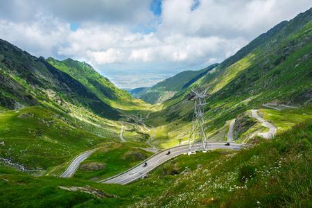 Transfagarasan Road - mountain road in Romanian Carpathian at summer