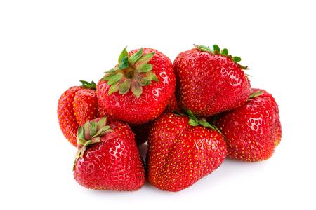 Fresh strawberries on white background.Delicious ripe strawberries.