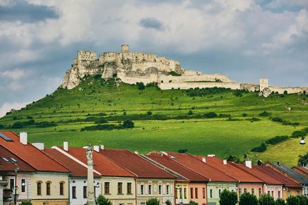 Spis Castle in Slovakia. Europe. Ancient castle Spis Castle near the city spisske Podhradie