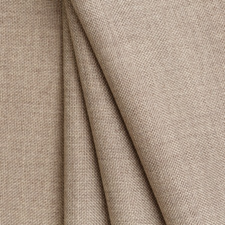 Texture canvas fabric as background. Texture fabric for feminine and mens shirts from flax. Allow your skin to breathe freely Stock Photo