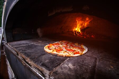 Pizza in the oven