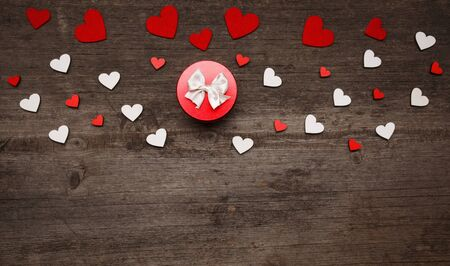 Love and holiday greeting concept background. Symbol of love. Heart decor. Stock fotó