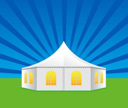 Tent voor reizen en kamperen Vector Illustratie