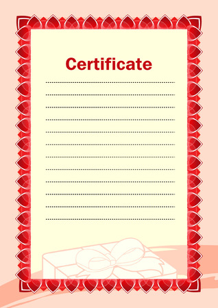 Blank of certificate Vector