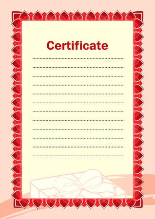 a4 borders: En blanco del certificado