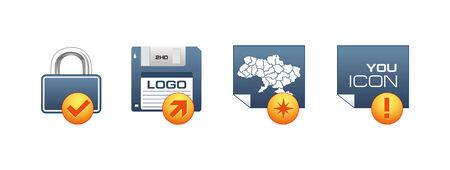 Icon set Stock Vector - 5260101
