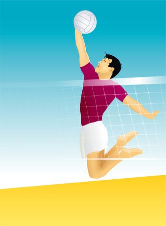 sturdy: Volleyball Illustration