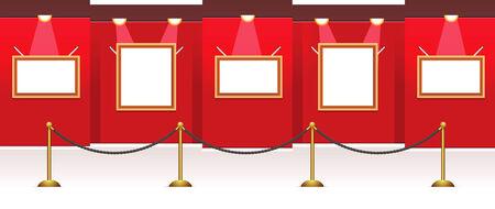 exposition art: Galerie chambre de vecteurs pour vos images, il est facile de les redimensionner les images et placez vos photos ou des images