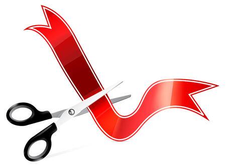 ciach: Grafikę wektorową nożyczki rozbioru taśmy z przodu symbole walut