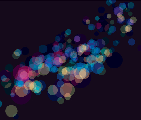 Multi color bokeh lights background. No transparency and effect Vector