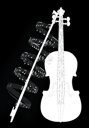 Vector illustration violine with note Stock Vector - 5587444