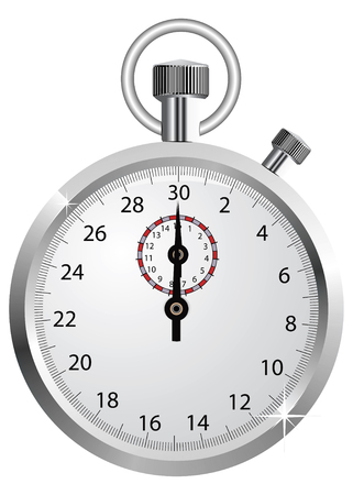 the interval: Vector stopwatch  Illustration