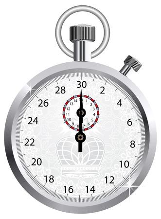 chronom�tre: Vecteur Couronne chronom�tre  Illustration