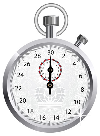timer: Vector crown stopwatch  Illustration