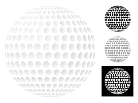 golfball: Golf ball isolated on white  Illustration