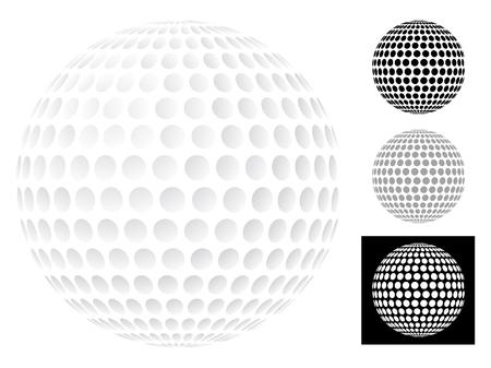 Golf ball isolated on white  Illustration