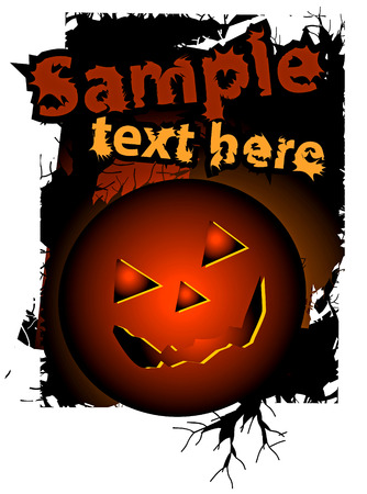 Halloween background, vector illustration. No transparency and effect. Stock Vector - 5673622