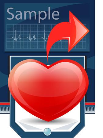 cardioid: Cardiogram de coraz�n  Vectores