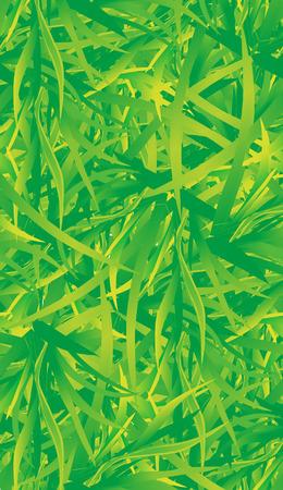 Grass vector seamless pattern. Top view Vector