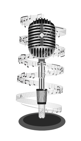 Beautiful Retro Black Microphone