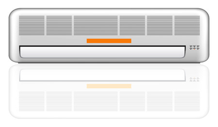 acclimatization: air conditioner vector illustration