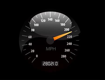 chilometro: Illustrazione vettoriale Sppedometer