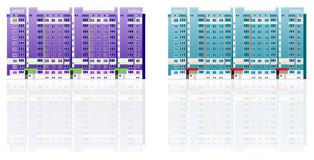 premise: Beautiful multi-storey buildings illustrations