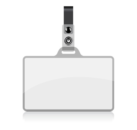 authorization: Vector Name Tag on white background. No transparency and effects.