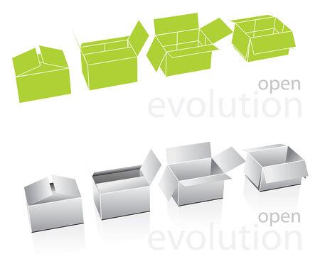 illustrated carton boxes Stock Vector - 6177444