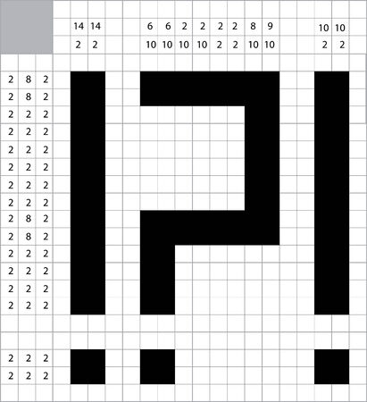 clues: A blank crossword vector Illustration