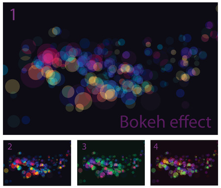abstract lights bokeh effects. No transparency and effects. Stock Vector - 6584836