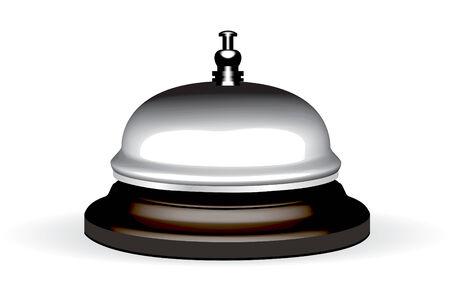campanas: antigua campana de hotel en un bosque de pie de ilustraci�n