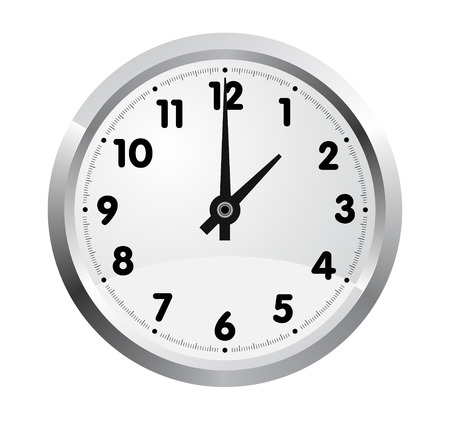 office clock: reloj de oficina realista aislado sobre fondo blanco