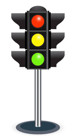 traffic lights isolated  on white background Stock Vector - 6692369