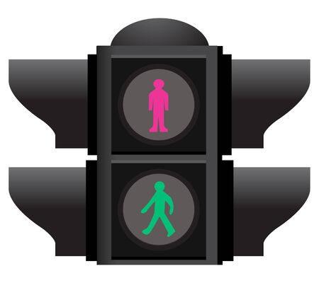 traffic lights isolated  on white background Stock Vector - 6692372