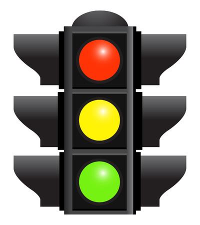 traffic control: sem�foros aislados sobre fondo blanco