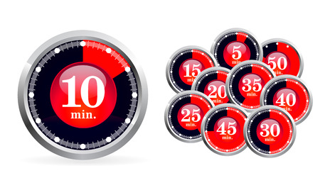 Set of timers on white background Stock Vector - 6692381