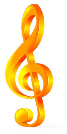 clave de sol: Oro de agudos clef Vectores