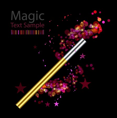 conjure: Beautiful vector magic background with wand