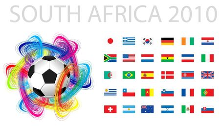 national flags of countries starting with south africa  Vector