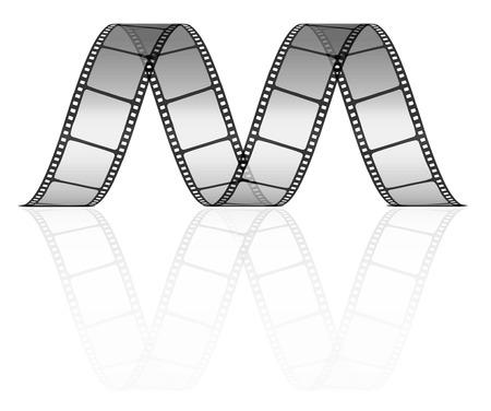 filmnegativ:  Film-Streifen als Buchstabe M