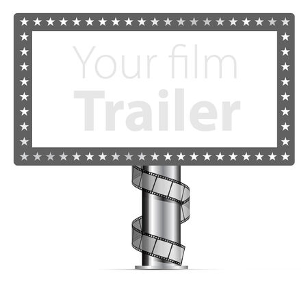 academy awards: Billboards with wraps film strip illustration Illustration