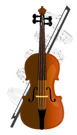 cello, violoncello on white background Vector