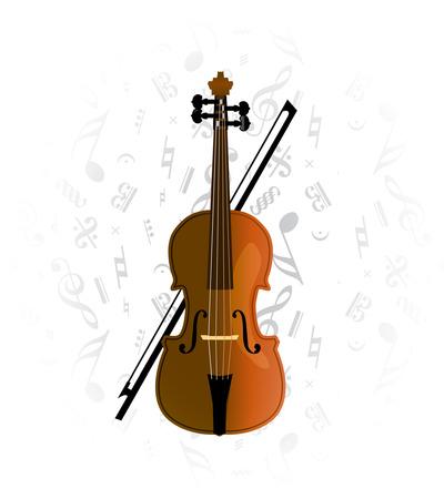 cello, violoncello on music note background Stock Vector - 7076285