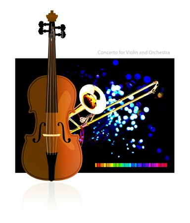 concerto: Concierto para viol�n y orquesta  Vectores