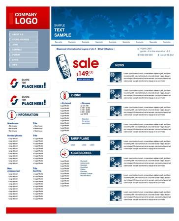 web site design: web site design template