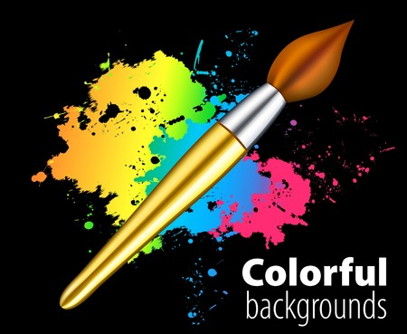 brush on color background Vector